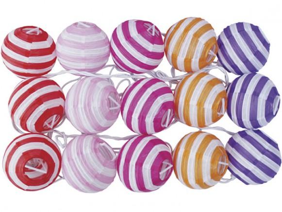 JaBaDaBaDo light string with stripes in pink