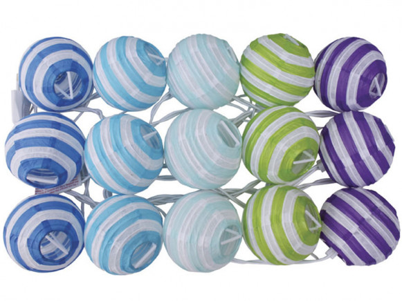 JaBaDaBaDo light string with stripes in turquoise