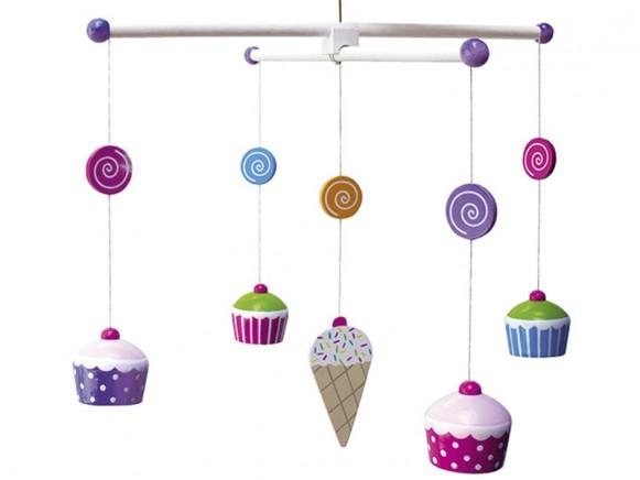 JaBaDaBaDo mobile with cupcakes