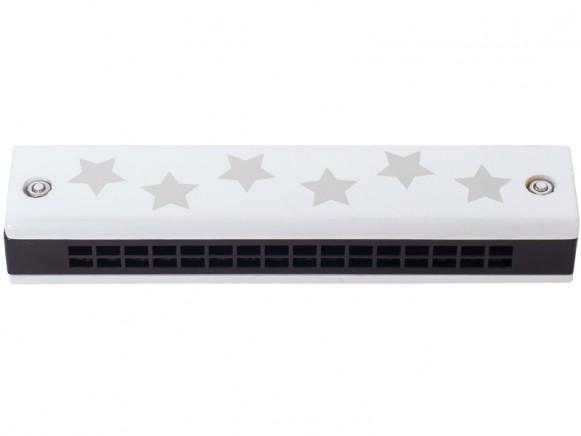 JaBaDaBaDo kids harmonica STARS white