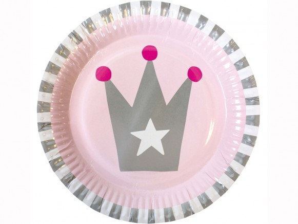 JaBaDaBaDo party plates PRINCESS pink