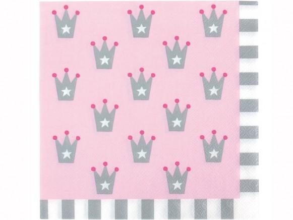 JaBaDaBaDo party napkins PRINCESS light pink