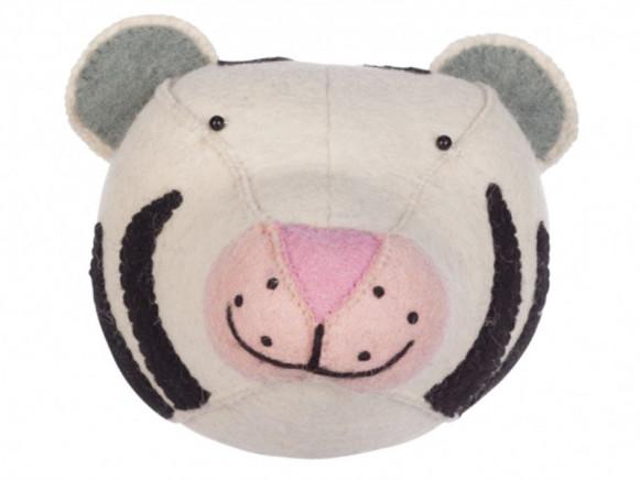 KidsDepot Felt Animal Head WHITE TIGER