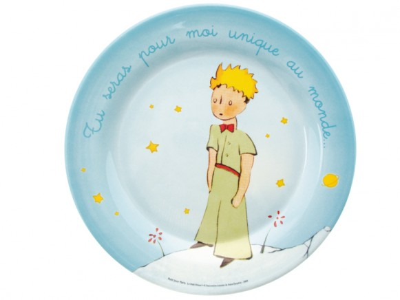 Large blue plate The Little Prince