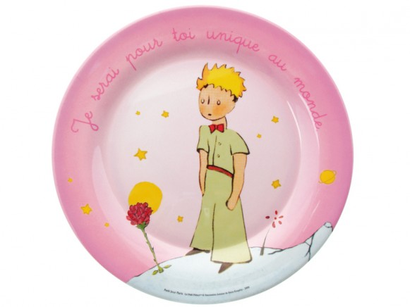 Pink large plate The Little Prince