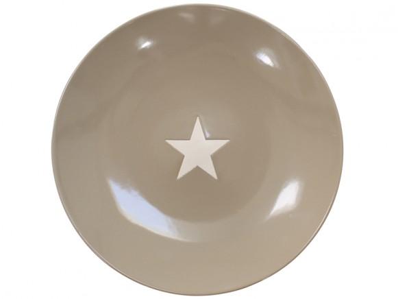 Krasilnikoff dinner plate Brightest Star taupe