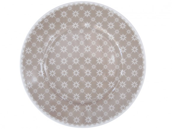 Krasilnikoff dessert plate diagonal taupe