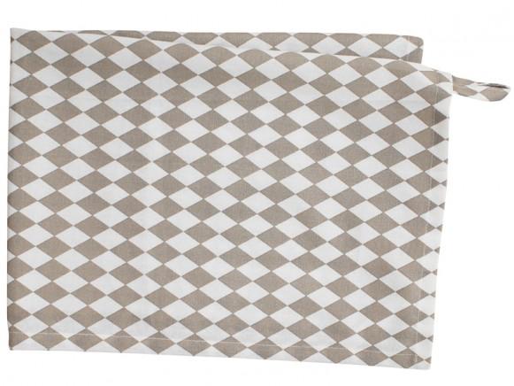 Krasilnikoff tea towel small harlekin taupe
