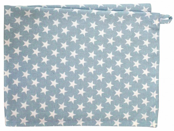 Krasilnikoff tea towel small star blue