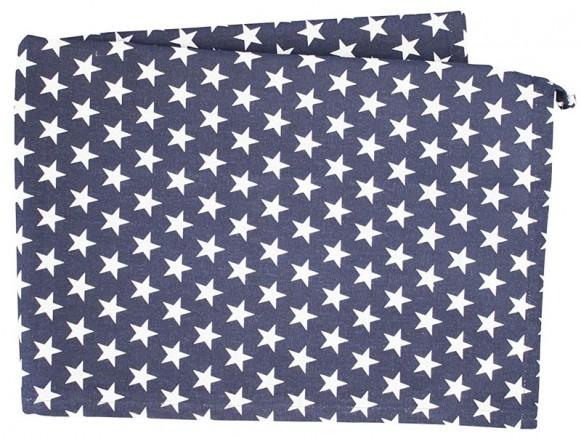 Krasilnikoff tea towel small stars dark blue
