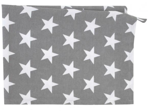 Krasilnikoff tea towel star charcoal