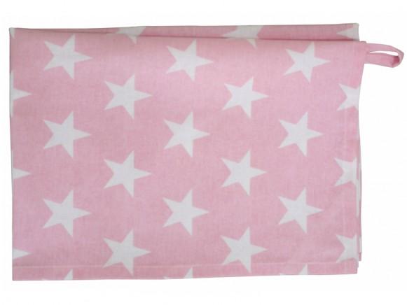 Krasilnikoff tea towel star pink