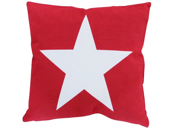Krasilnikoff cushion cover big star red