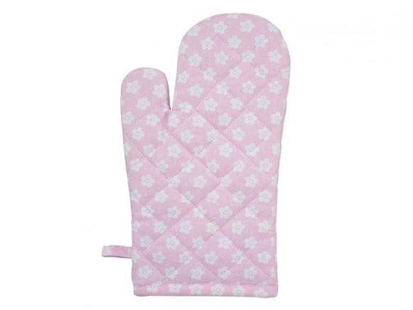 Krasilnikoff kitchen glove retro flower pink