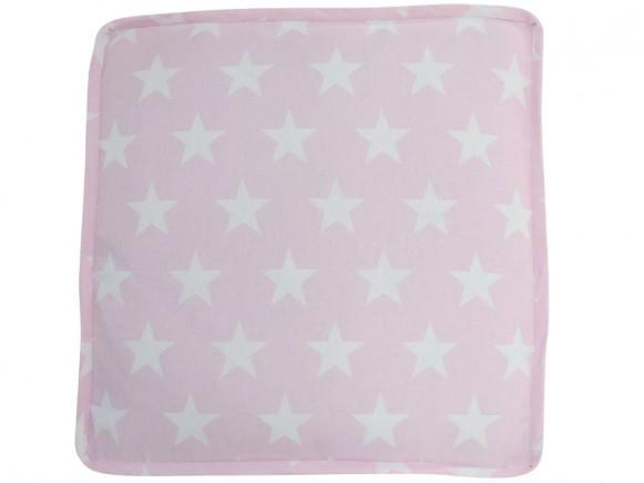 Krasilnikoff box cushion cover pink with white stars