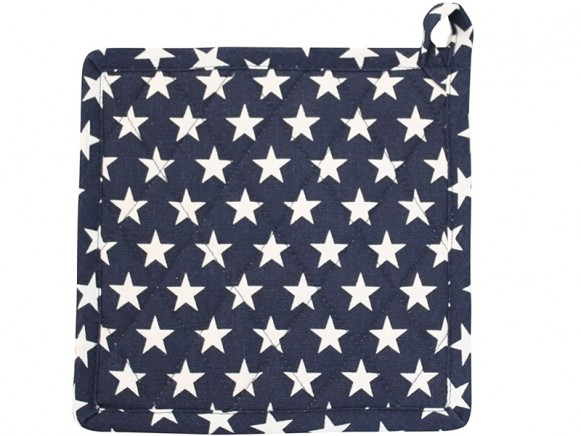 Krasilnikoff pot holder STAR navy blue