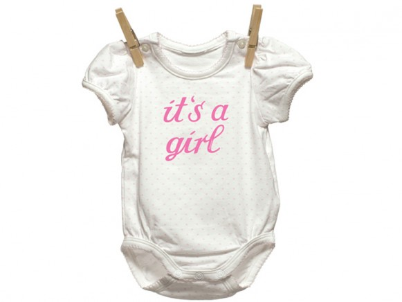 """Iron-on patch """"It's a girl"""" by krima & isa"""