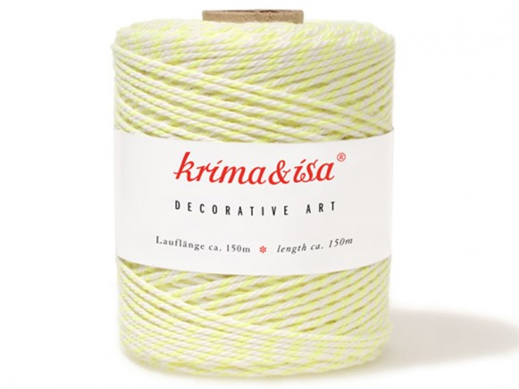 krima & isa yarn neon yellow