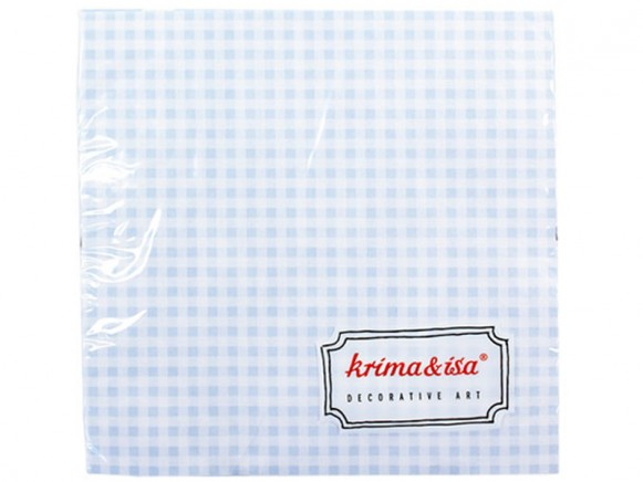 Blue and white checked servicing by krima & isa
