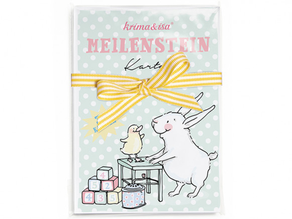 krima & isa Milestone Cards BABY ANIMALS