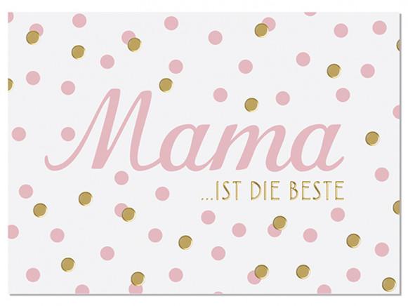 """krima & isa Postcard """"MAMA IST DIE BESTE"""""""