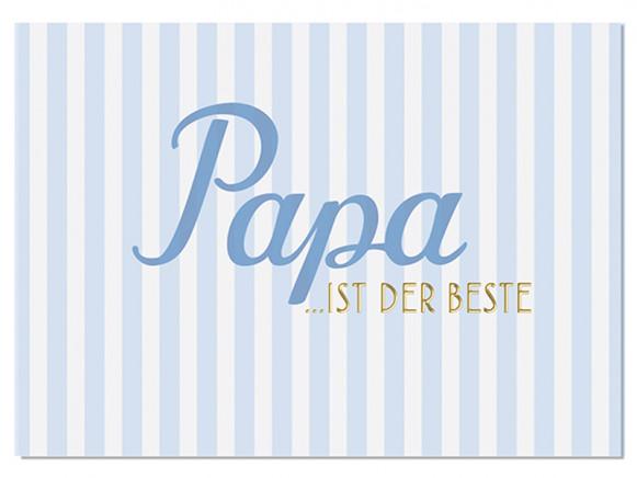 """krima & isa Postcard """"PAPA IST DER BESTE"""""""