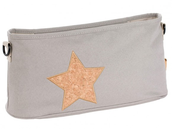 Lässig Buggy organizer STAR light grey
