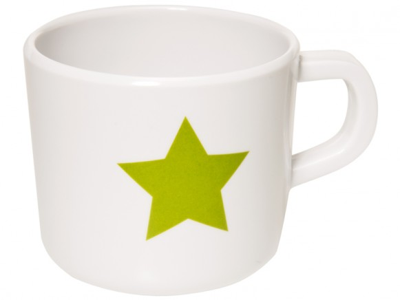 Melamine cup with star in olive by Lässig