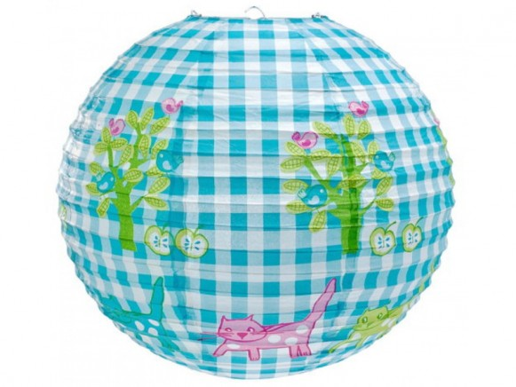 Lamp shade with pink cats
