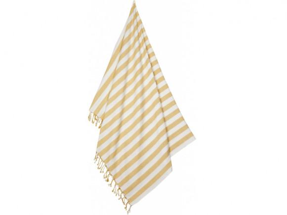 LIEWOOD Beach Towel MONA Stripe: Yellow mellow/creme de la creme