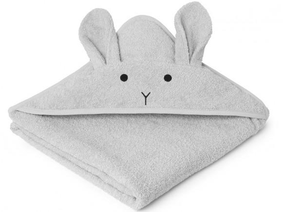 LIEWOOD Hooded Towel Augusta BUNNY grey