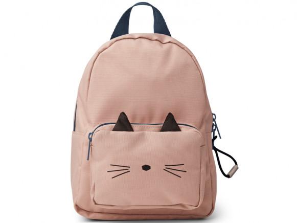 LIEWOOD Kids Mini Backpack Saxo CAT old rose 1-3