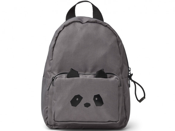 LIEWOOD Kids Mini Backpack Saxo PANDA dark grey 1-3