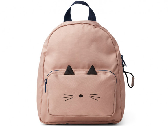 LIEWOOD Kids Backpack Allan CAT old rose 3-6