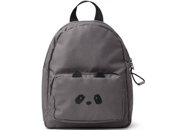 LIEWOOD Kids Backpack Allan PANDA dark grey 3-6