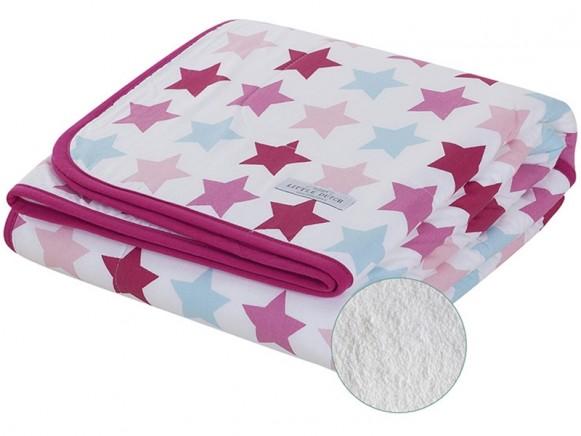 Little Dutch baby blanket mixed stars pink