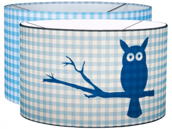 Little Dutch hanging lamp silhouette owl turquoise