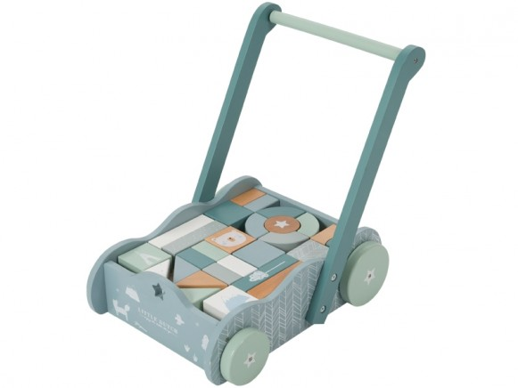 Little Dutch wooden baby walker blue