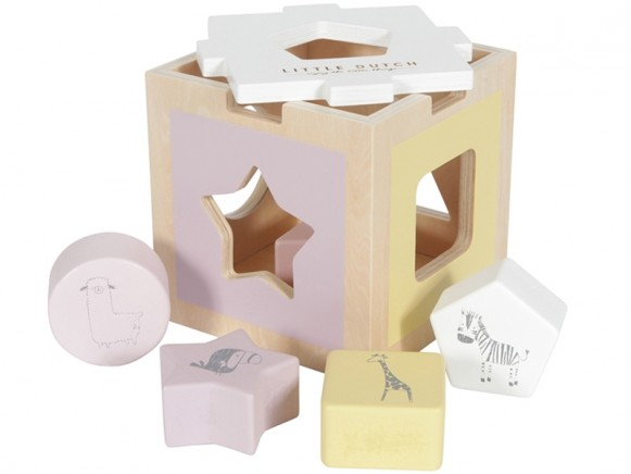 Little Dutch Sorter Box ZOO pink