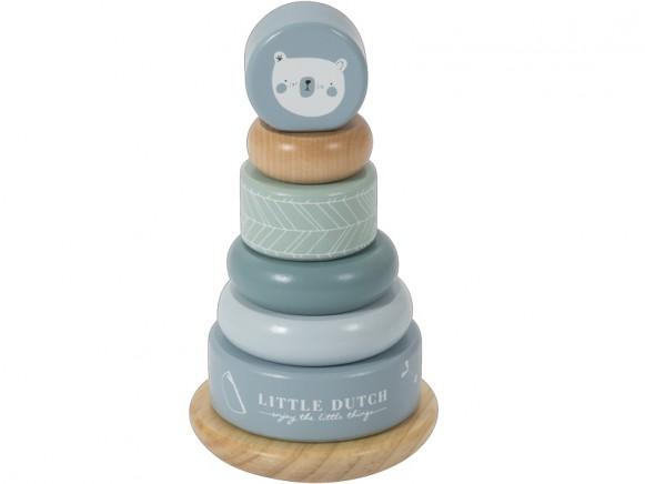 Little Dutch Ring Stacker BEAR blue