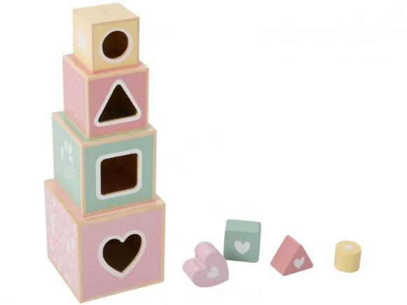 Little Dutch wooden stacking blocks pink
