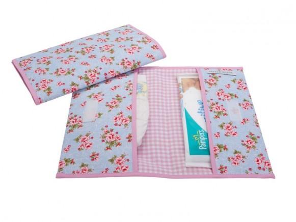 Little Dutch Diaper pouch ROSES blue