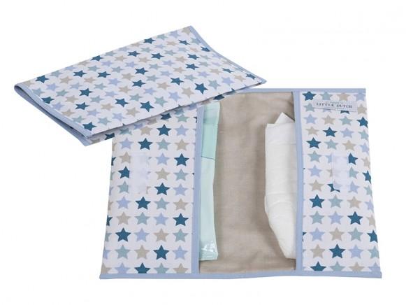 Little Dutch Diaper pouch STARS mixed mint