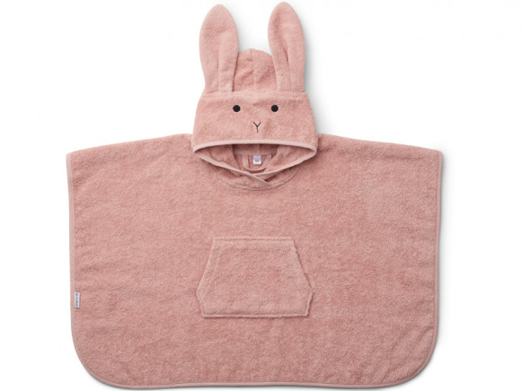 LIEWOOD Poncho Orla BUNNY old rose 2-4