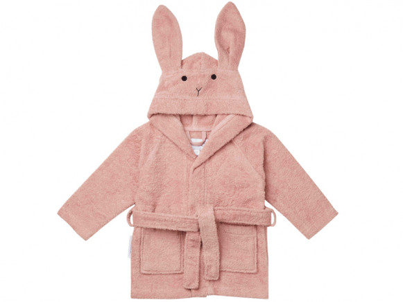 LIEWOOD Hooded Bathrobe Lily RABBIT old rose 5 - 6 years