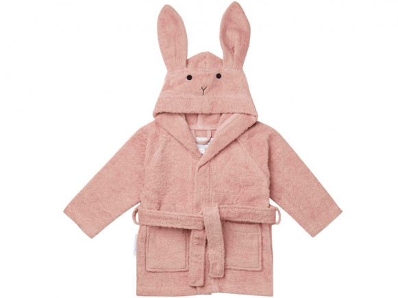 LIEWOOD Hooded Bathrobe Lily RABBIT old rose 3 - 4 years
