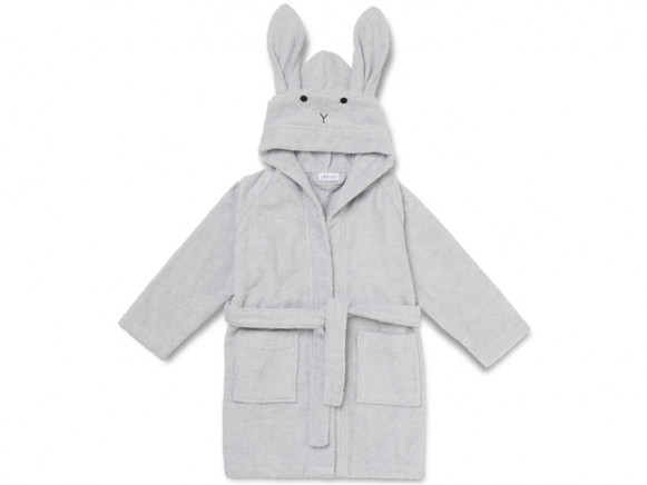 LIEWOOD Hooded Bathrobe Lily RABBIT grey 5 - 6 years