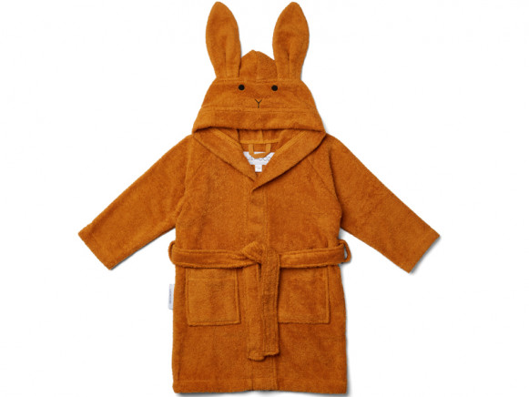 LIEWOOD Hooded Bathrobe Lily RABBIT mustard 5 - 6 years