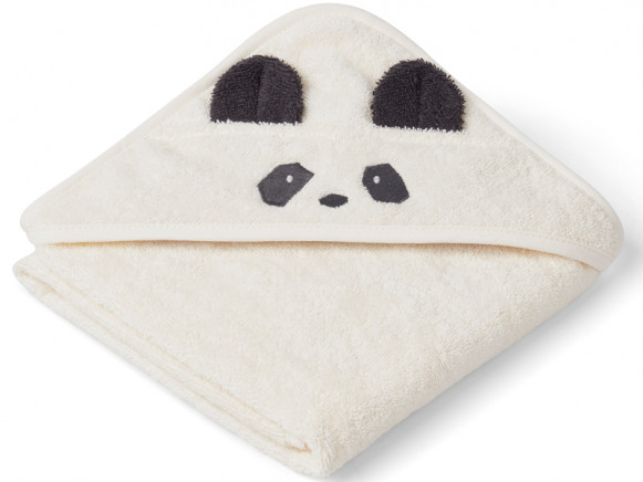 LIEWOOD Hooded Towel Baby Albert PANDA cream