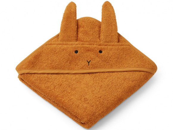 LIEWOOD Hooded Towel Baby Albert BUNNY mustard